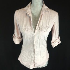 Standard James Perse Tab Sleeve Top Shirt XS S